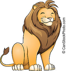 lion - grinning lion