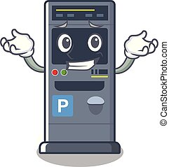 Grinning parking vending machine the cartoon shape