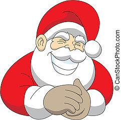 grinning Santa - vector illustration of a cheeky grinning...