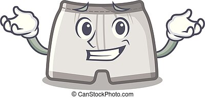 Grinning swimming trunks isolated with the mascot