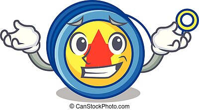 Grinning yoyo character cartoon style vector illustration