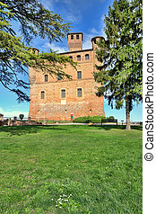 Grinzane Cavour Castle. Piedmont, Italy.
