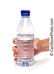 grip it - hand holding a water bottle