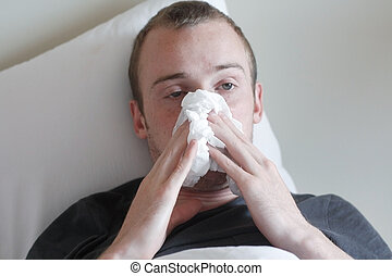 gripe, hombre