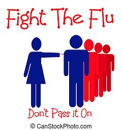 grippe, baston