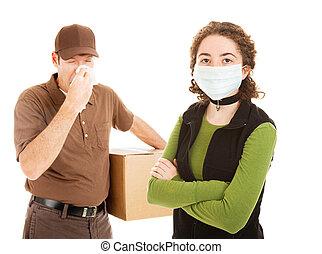 grippe, liefern