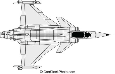 Grippen - High detailed vector illustration of a modern...