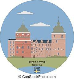 gripsholm, suécia, castle., mariefred