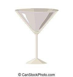 gris, échelle, silhouette, cocktail, boisson, verre