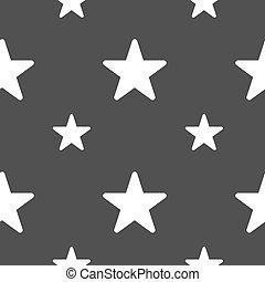 gris, étoile, modèle, signe., favori, seamless, arrière-plan., vecteur, icône