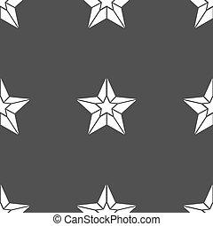 gris, étoile, modèle, signe., seamless, arrière-plan., vecteur, icône