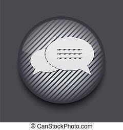 gris, 10, app, eps, arrière-plan., vecteur, rayé, cercle, icône