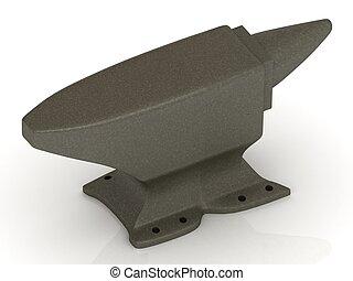 gris acier, enclume