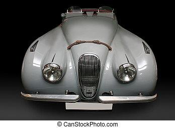 gris, ancien, briller, voiture