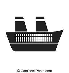 gris, bateau, voyage, maritime
