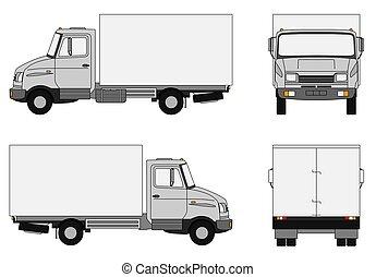 gris, camion