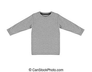 gris, chandail, isolé