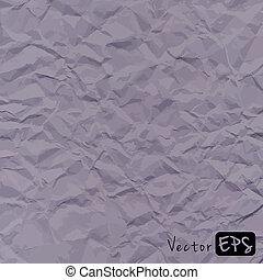gris, chiffonné, vieux, résumé, papier, vecteur, fond