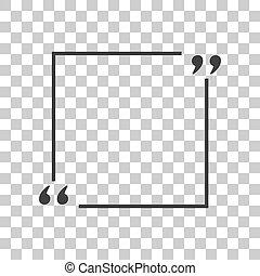 gris, citation, signe., sombre, arrière-plan., texte, transparent, icône