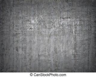 gris, concreto, fondo.
