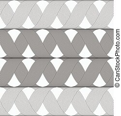 gris, croix, modèle, nuances, grille, rubans