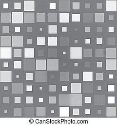 gris, différent, carrés, fond, taille