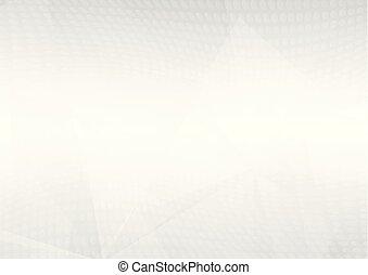 gris, dots., gradient, lumière, résumé, illustration, halftone, formes, vecteur, chevauchement, fond, géométrique, doux, blanc, perspective