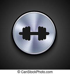 gris, eps10, metal, fondo., vector, icono