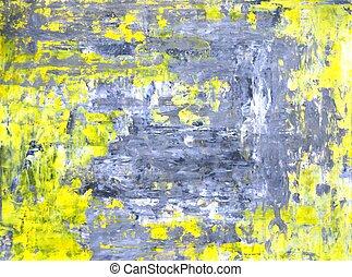 gris, et, jaune, art abstrait