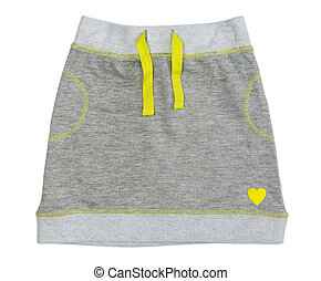 gris, falda