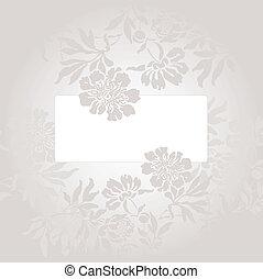 gris, fleurs, carte