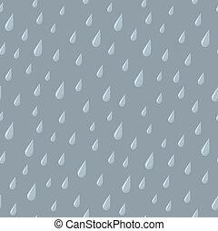 gris, gotas, seamless, lluvia