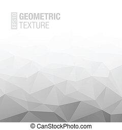 gris, gradient, résumé, arrière-plan., géométrique, blanc