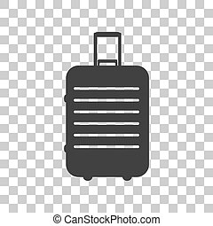 gris, illustration., bagages, signe, sombre, arrière-plan., transparent, icône
