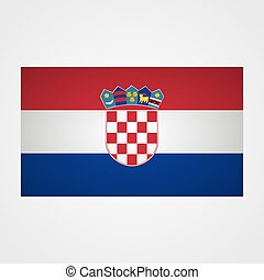 gris, ilustración, fondo., bandera, vector, croacia