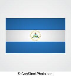 gris, ilustración, fondo., bandera, vector, nicaragua
