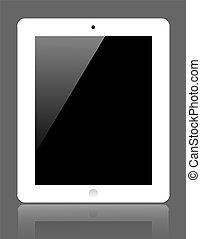 gris, informatique, tablette, réaliste, arrière-plan., vecteur, eps10