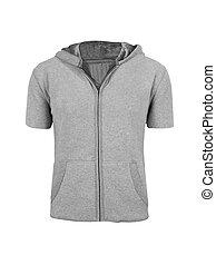 gris, isolé, hoodie