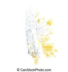 gris, jaune, résumé, aquarelle, conception, fond,  insul, ton