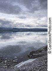 gris, kluane, lac, jours