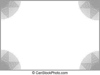 gris, marco, plano de fondo
