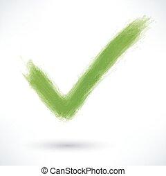 gris, marque, vert, ombre, signe, chèque