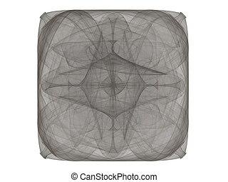 gris, modèle, résumé, rendre, fractal, 3d