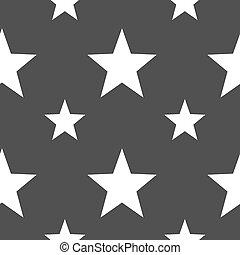 gris, modèle, signe., favori, seamless, arrière-plan., vecteur, étoile, icône