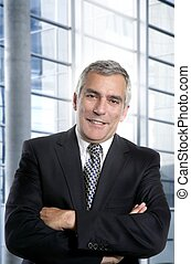 gris, oficina, pelo, interior, hombre de negocios, blanco