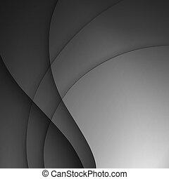 gris, oscuridad, elegante, empresa / negocio, fondo.