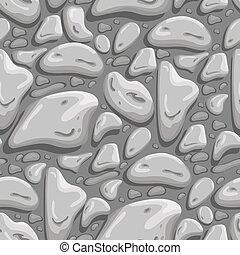gris, pierre, illustration., seamless, arrière-plan., vecteur, conception, element.