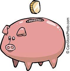 gris, piggy bank