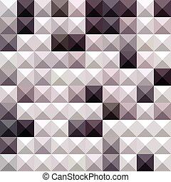 gris, polygone, résumé, davy, bas, fond