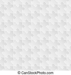 gris, puzzle, vecteur, seamless, fond